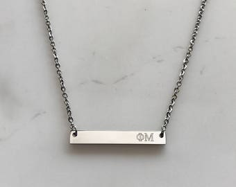 Phi Mu Necklace - Phi Mu Gift - Big Gift - Little Gift - Gift For Big - Gift For Little - Wholesale Sorority - Sorority Gift - Legacy Gift