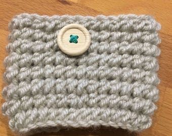 Crochet Mug Cozy with Button