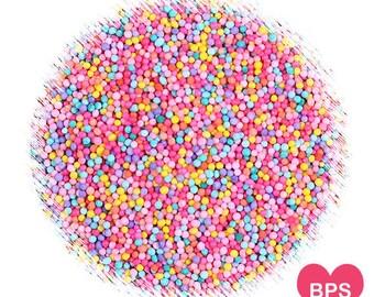 Carnival Party Nonpareil Sprinkles, Edible Sprinkles, Pink Party Sprinkles, Cake Pop Sprinkles, Cupcake Sprinkles, Fairy Bread Sprinkles