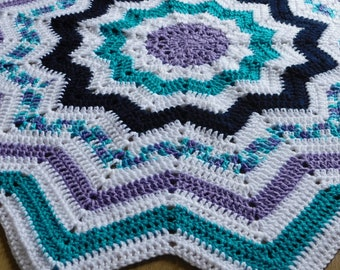 Nautical Dreams 12 Point Star Afghan Blanket