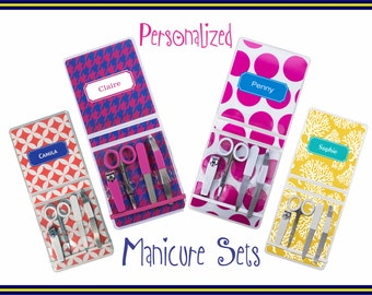 Personalized Manicure Set - Monogrammed Nail Set | Gift for Her | Monogram Manicure Set