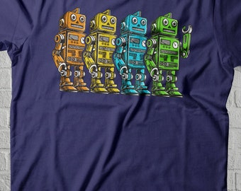 Vintage Robot Shirt Woman, Men Robotics Gifts, Robotics Mom Shirt, Robotics Club Robot TShirts, Retro Robot Art, Robotics Shirt Woman Tee