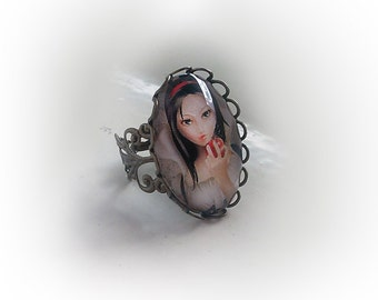 "Adjustable Ring ""Biancaneve"" (Snowhite)"