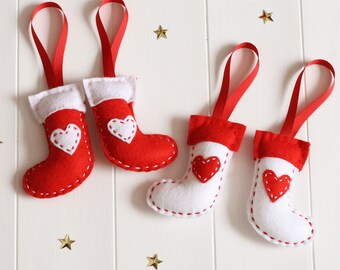 Christmas Stocking Decoration Kit, Make Your Own Christmas Stocking Decorations, Christmas Stocking Sewing Kit, DIY Christmas Stocking Kit