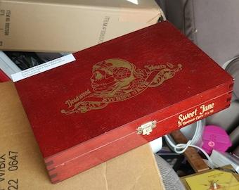 Deadwood Tobacco Co. Empty Cigar Box Sweet Jane