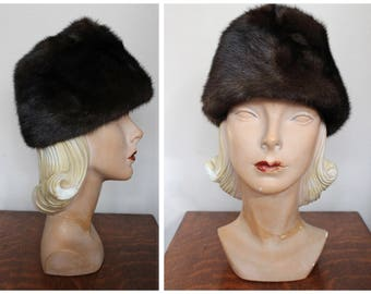 1960s Hat // Mr. R Mink Hat // vintage 60s hat