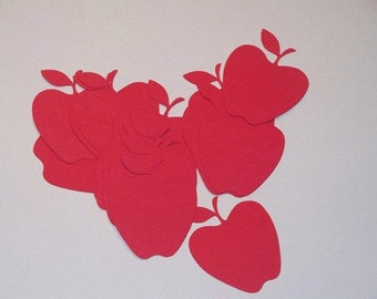 Red Apples Die Cut 2 inches - 24