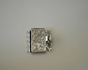 Vintage Look Silver Plated Brass Clasp Silver Plate Brass Jewelry Making Clasps Brass Jewelry Findings Clasps 23x21mm (1pc) 25MV3