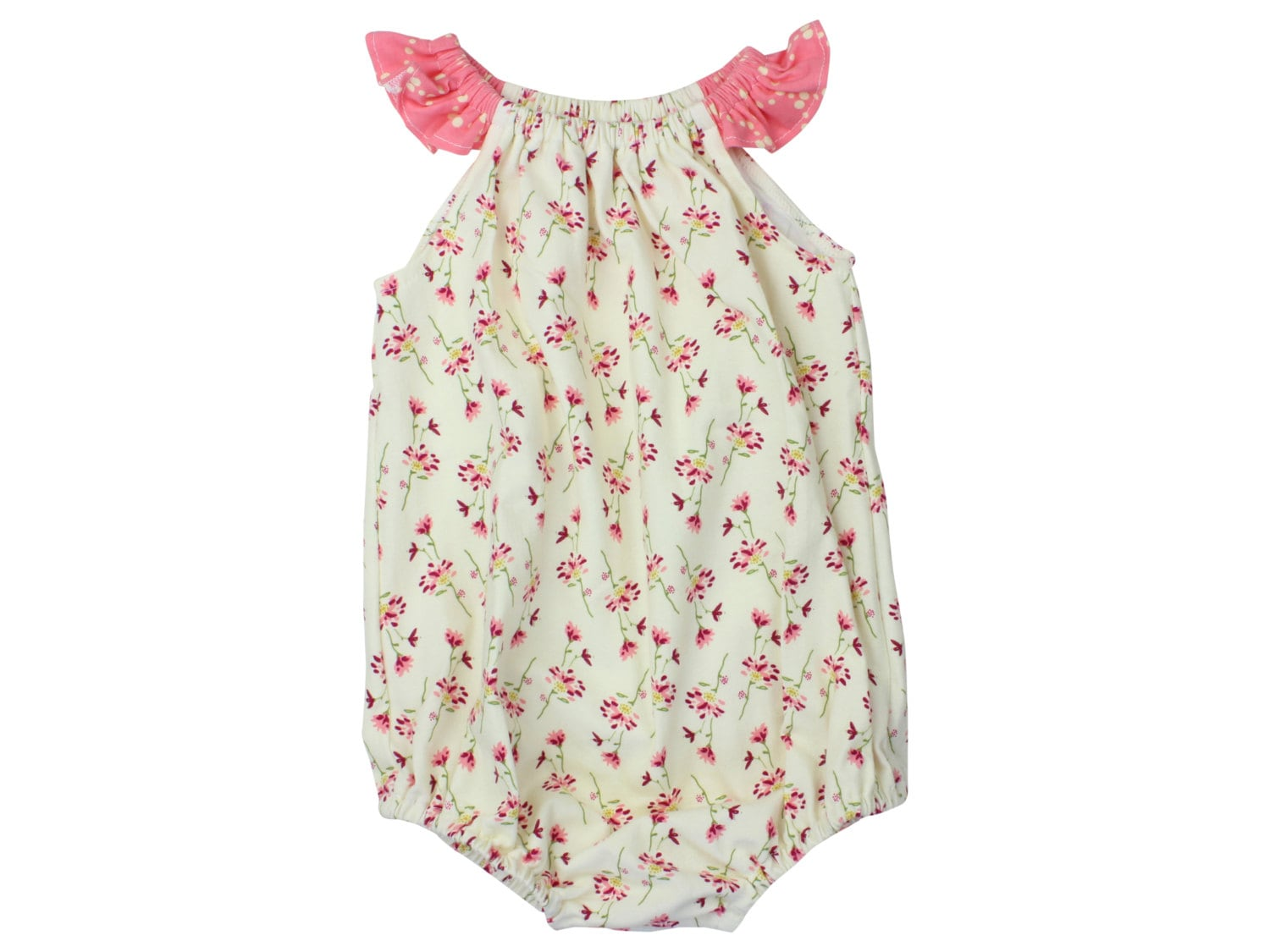92ccb228f47b Baby Romper Toddler Romper Pink Flower Floral Romper Dainty ...