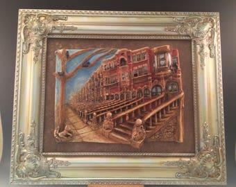 Brooklyn brownstone Bas relief tile