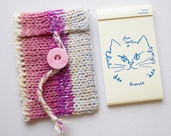 Nougat Jotter Case with Little Notepad. Mini Note Book for To-Dos or Shopping Lists - Cute and Useful Little Gifts!