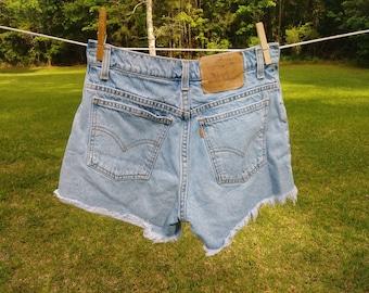 Levis Orange Tab Cut Off Jean Shorts