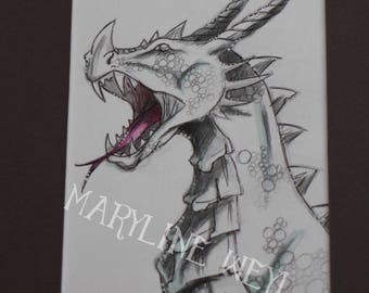 "Original drawing ""Dragon of the snow"""