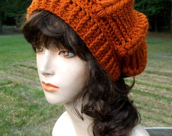 Crochet Slouch Hat, Winter Hat, Puff Stitch Crochet Slouchy Hat, Puff Stitch Hat,
