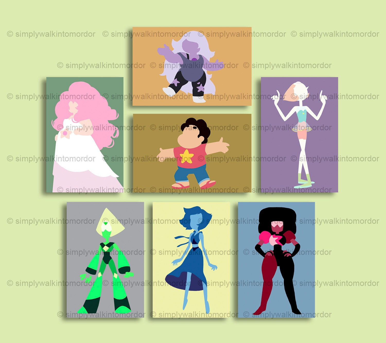 Steven Universe print The Crystal Gems Steven Rose