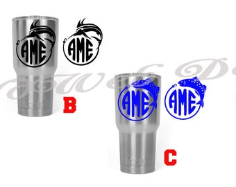 Stainless Steel Tumbler Fisherman Personalized, monogrammed 30 oz. RTIC