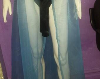 Blue shear skirt