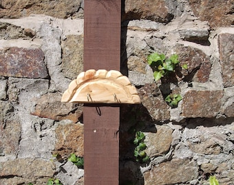 Pasty Key Rack hand made in Cornwall 2 hooks