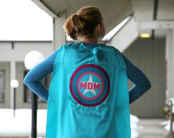 MOM or DAD SUPERHERO Cape - Customized and Personalized - Adult Super Hero Cape - Ships Fast - Perfect Super Hero Capes for Men and Women