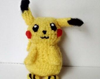 Pikachu Doll, Amigurumi Pikachu, Pikachu Ganchillo, Pokemon Pikachu, Pokemon Doll, Gamer Gift, Geek Gift, Toy, Crochet Doll, Amigurumi