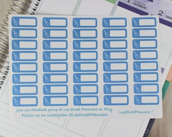 Small Guitar Lesson Reminder Stickers