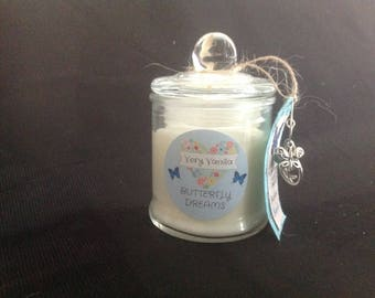 Small Hand Poured Soy Candle - Very Vanilla Scent