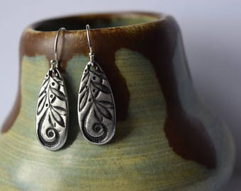 floral earrings | sister gift | wedding Jewelry | bohemian earrings | boutique style | christmas gift | silver earrings | gift for her