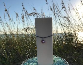 """Soja, pilier sur les rochers, 2 """"x 6"""", avec cristal de Swarovski fleur, centre de la plage de mariage, cadeau élégant Eco sécurité"""