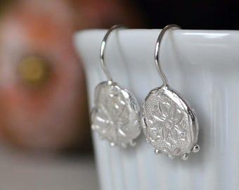 Sterling Silver Star Relic Earrings. Relic Earrings. Granulation Earrings. Silver Star Earrings. Ancient Earrings. Floral Earrings.
