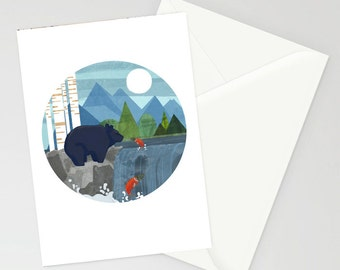 Gone Fishing A6 greetings card