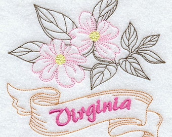 Virginia Dogwood State Flower Flour Sack Hand/Dish Towel