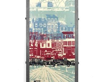 Fells Point Mash Up Framed Silk Screen Print, Baltimore, MD