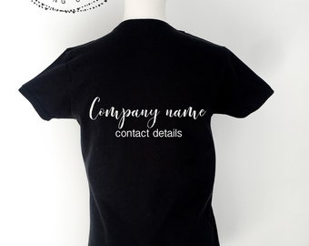 Personalised Custom T-shirt, Customised T-shirt, Personalised Shirt, make your own t-shirt, custom made shirt, black t-shirt