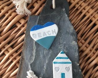 NEW, Handmade Hanging beach themed slate
