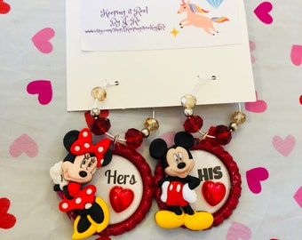 Adorable Disney themed His and Her wine charms!
