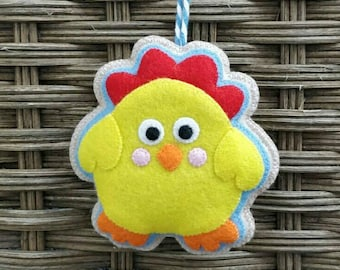 Cute felt easter chick ornament