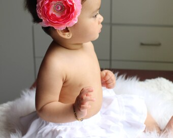 Pink bows, baby headband.Baby girl headband, newborn headband, flower headband,toddler headband. Baby headbands