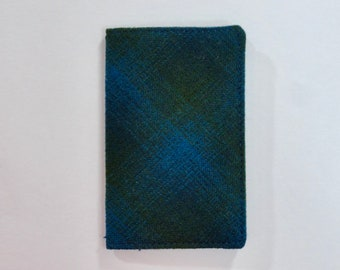 Blue Green Vintage Pendleton Wool Plaid Mini Wallet