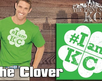 "Kansas City ""The clover"" St Patrick's day Green T shirt Apparel Merchandise"