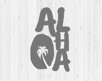 Aloha, SVG, palm tree, PNG, summer SVG, digital download, instant download, cut file, svg cut file, commercial use, commercial license