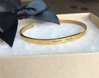 Custom dainty cuff bracelet
