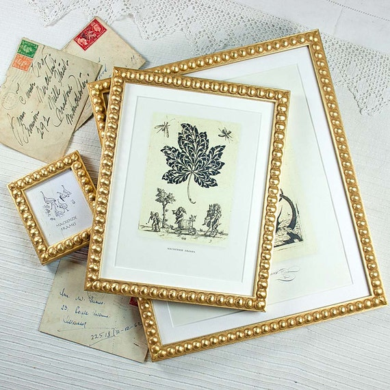 Items similar to 3 Narrow Gold Boules Frames 4x6 inch/5x7 inch and ...