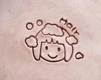 Hair-use Soap Stamp Handmade Soap Stamp Bamboo Soap Stamp Hairdressing Soap Stamp