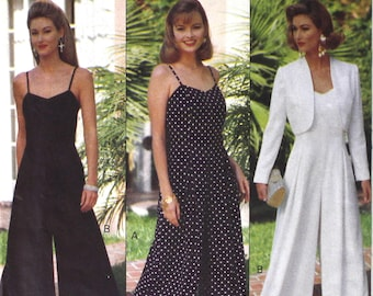 UNCUT 1993 Jumpsuit Bust 30.5 - 34 Butterick 6789 Vintage Sewing Pattern