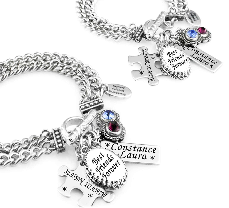 Customized Charm Bracelet: Custom Best Friends Charm Bracelet Set Of 2 Friendship