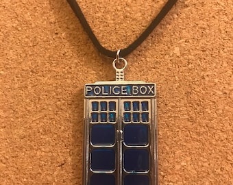 Doctor who inspired TARDIS charm necklace
