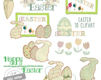 Easter ClipArt PNG transparent Scrapbook Clipart Instant Download Personal and Commercial use (CA01)