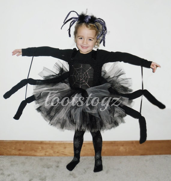 sc 1 st  Etsy & Halloween Black widow black and silver girls spider tutu dress