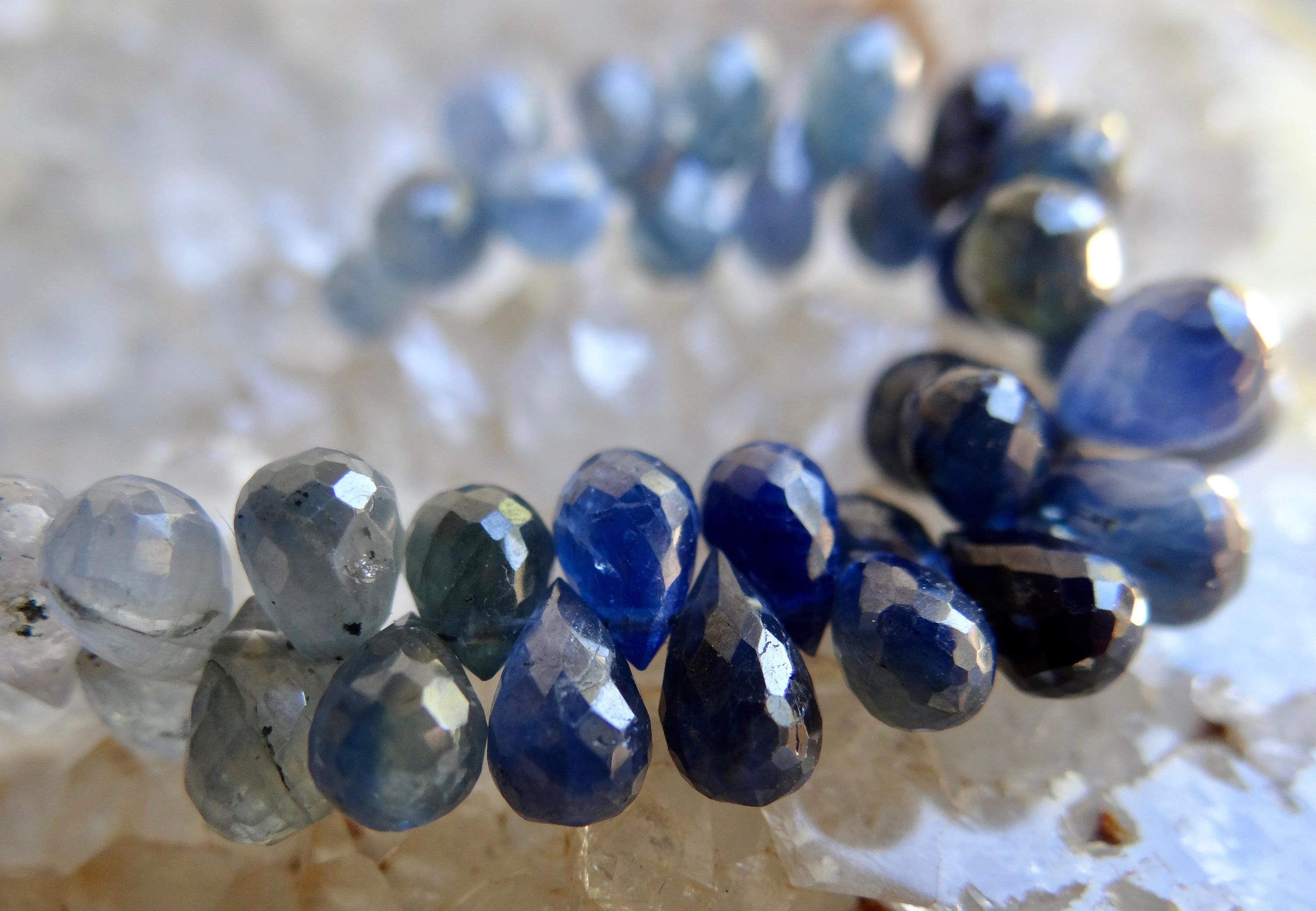 beads sapphire natural pear pears precious faceted bead briolettes gemstone briolette multi ruby