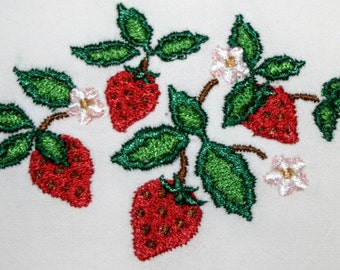 Strawberries Towel - Strawberry Towel - Fruit Towel - Flour Sack Towel - Hand Towel - Bath Towel - Apron - Fingertip Towel